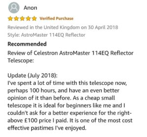 Celestron AstroMaster 114EQ Review