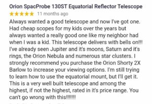Orion spaceprobe 130st Review