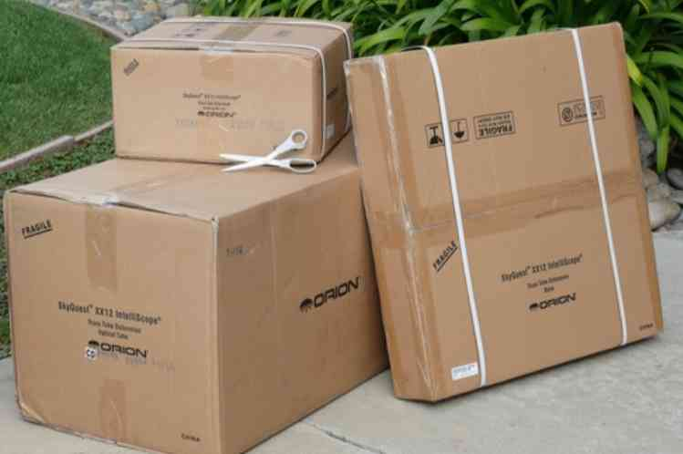 Orion SkyQuest XX12i boxes