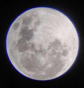 The moon with chromatic aberration