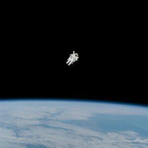 Drifting astronaut