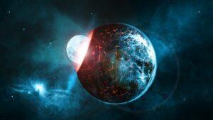 Moon hitting earth