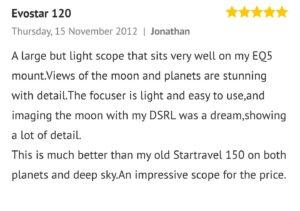 Skywatcher evostar 120 Review